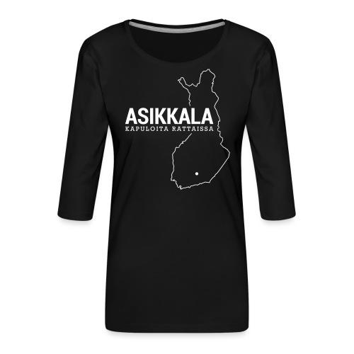 Kotiseutupaita - Asikkala - Naisten premium 3/4-hihainen paita