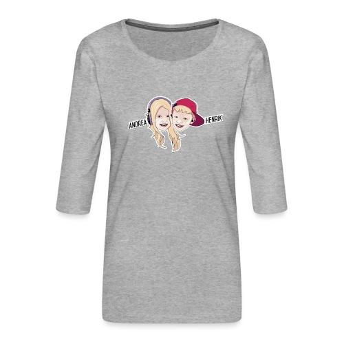 Enkel Logo - Premium T-skjorte med 3/4 erme for kvinner
