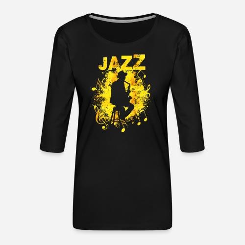 Jazz Saxophonist - Frauen Premium 3/4-Arm Shirt