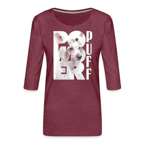 Powderpuff II - Naisten premium 3/4-hihainen paita