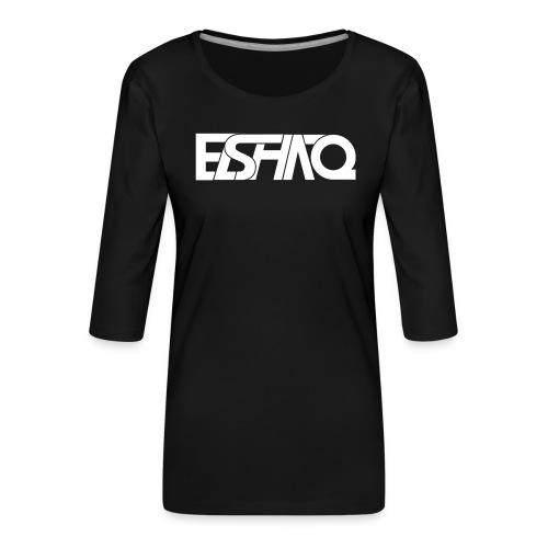 elshaq white - Women's Premium 3/4-Sleeve T-Shirt