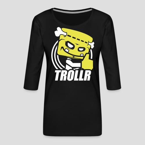 TROLLR Like - T-shirt Premium manches 3/4 Femme