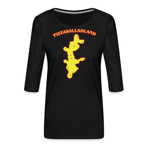 Pizzasalladland - Premium-T-shirt med 3/4-ärm dam