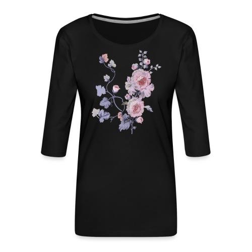 Schlichte Blumen - Frauen Premium 3/4-Arm Shirt