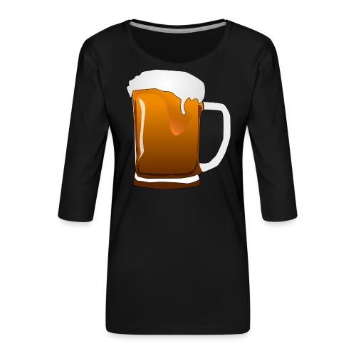 Cartoon Bier Geschenkidee Biermaß - Frauen Premium 3/4-Arm Shirt