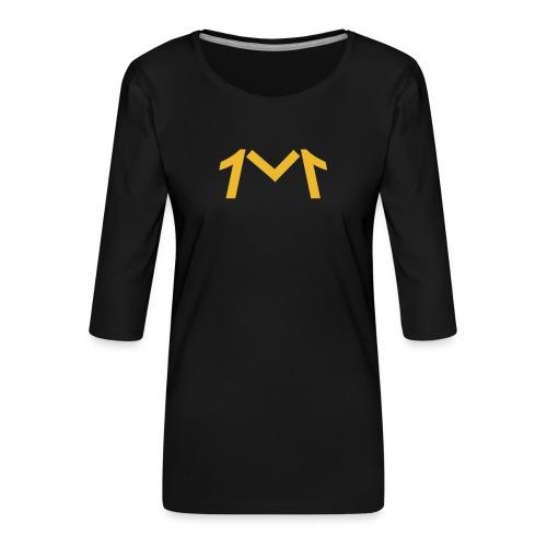 1M, LE LOGO DE L'UNIVERS - T-shirt Premium manches 3/4 Femme