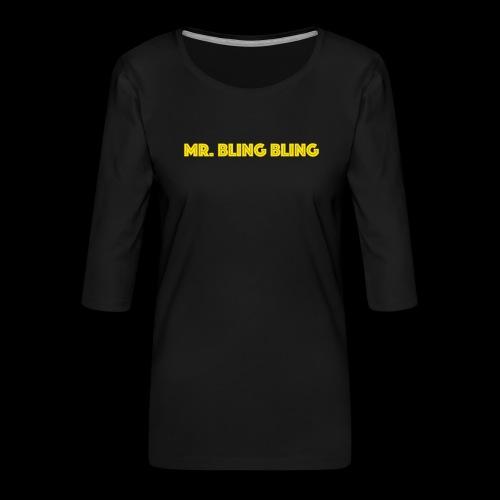 bling bling - Frauen Premium 3/4-Arm Shirt