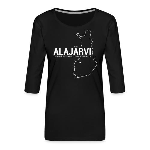 Kotiseutupaita - Alajärvi - Naisten premium 3/4-hihainen paita