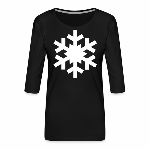 Flocon - T-shirt Premium manches 3/4 Femme