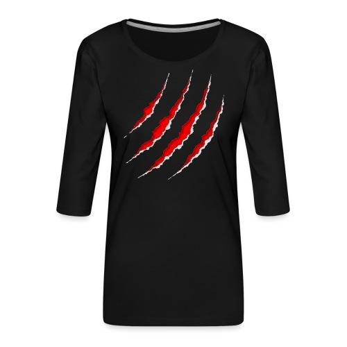 Scars - Dame Premium shirt med 3/4-ærmer