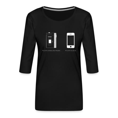 walkman analog - phone 1&0s - Women's Premium 3/4-Sleeve T-Shirt