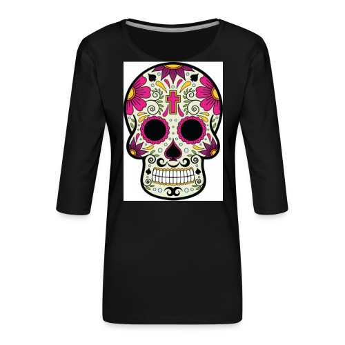 tête messico - T-shirt Premium manches 3/4 Femme