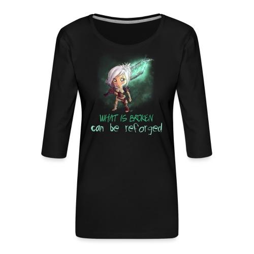 Chibi Riven con scritta DONNA - Maglietta da donna premium con manica a 3/4