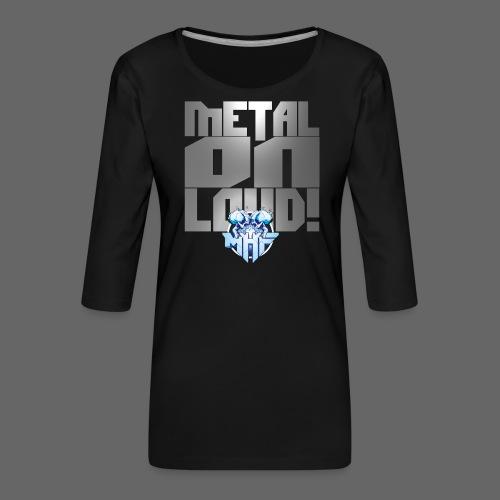 metalonloud large 4k png - Women's Premium 3/4-Sleeve T-Shirt