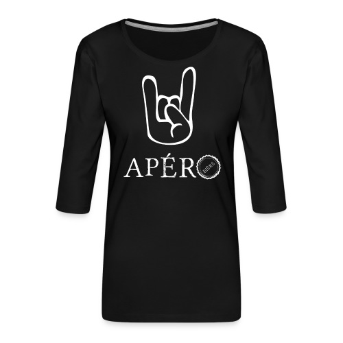 rock and apéro - T-shirt Premium manches 3/4 Femme