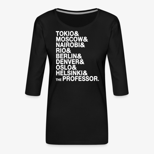 Casa di Carta - Donna Canottiera - Maglietta da donna premium con manica a 3/4