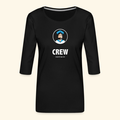 SeaProof Crew - Frauen Premium 3/4-Arm Shirt