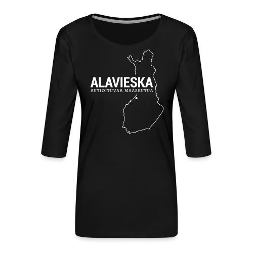 Kotiseutupaita - Alavieska - Naisten premium 3/4-hihainen paita
