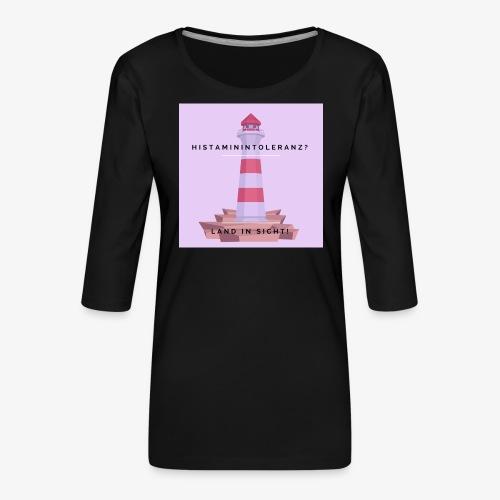 Histaminintoleranz – Land in Sicht (lila) - Frauen Premium 3/4-Arm Shirt