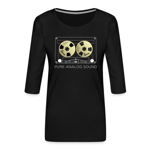 Reel golden cassette - Women's Premium 3/4-Sleeve T-Shirt