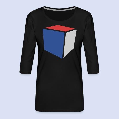 Cube Minimaliste - T-shirt Premium manches 3/4 Femme