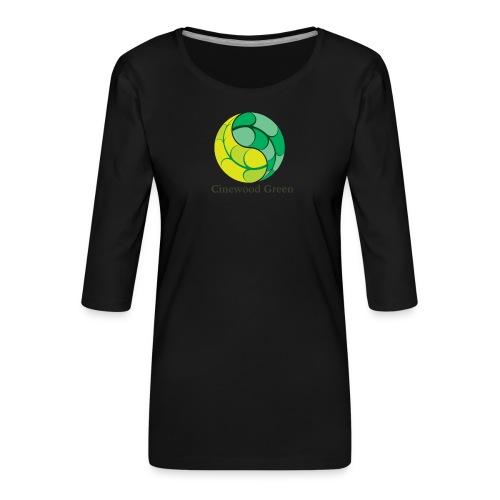 Cinewood Green - Women's Premium 3/4-Sleeve T-Shirt