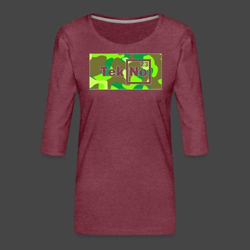 TEKNO 23 CAMOUFLAGE - Maglietta da donna premium con manica a 3/4