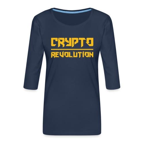 Crypto Revolution III - Women's Premium 3/4-Sleeve T-Shirt