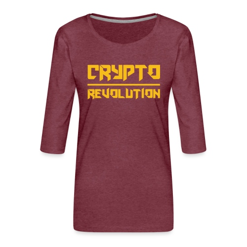 Crypto Revolution III - Women's Premium 3/4-Sleeve T-Shirt