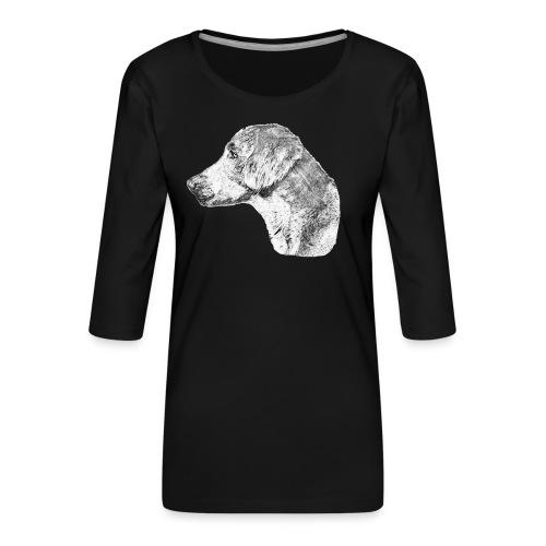 Langhaar Weimaraner - Frauen Premium 3/4-Arm Shirt