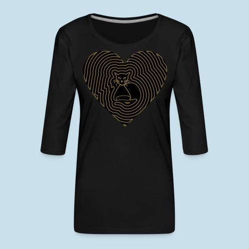 Katzenliebe - Frauen Premium 3/4-Arm Shirt