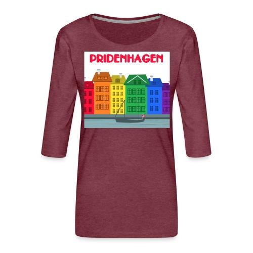 PRIDENHAGEN RETRO T-SHIRT - Dame Premium shirt med 3/4-ærmer