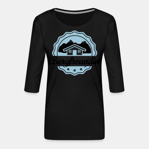 Bergfreundin - Frauen Premium 3/4-Arm Shirt