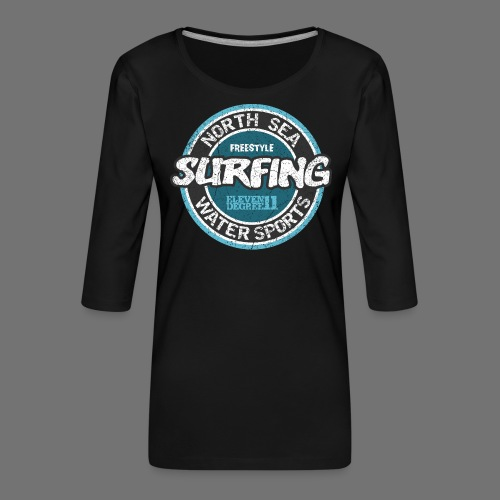 North Sea Surfing (oldstyle) - Dame Premium shirt med 3/4-ærmer