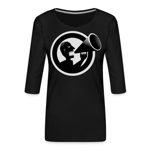 Der Schrei - Frauen Premium 3/4-Arm Shirt