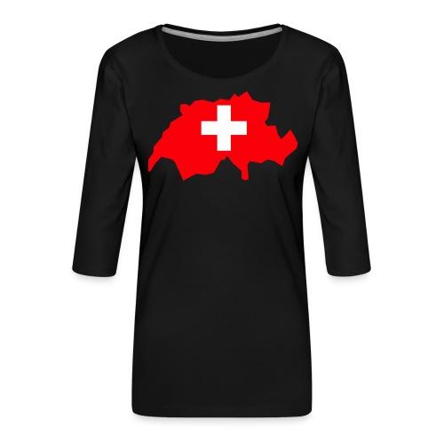 Switzerland - Vrouwen premium shirt 3/4-mouw