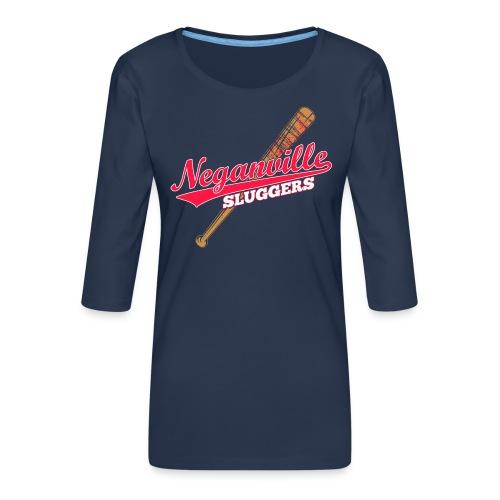 Neganville Sluggers - Women's Premium 3/4-Sleeve T-Shirt