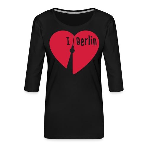 I love Berlin (1-farbig) - Frauen Premium 3/4-Arm Shirt