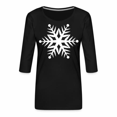 Schneeflocke Pixellamb - Frauen Premium 3/4-Arm Shirt