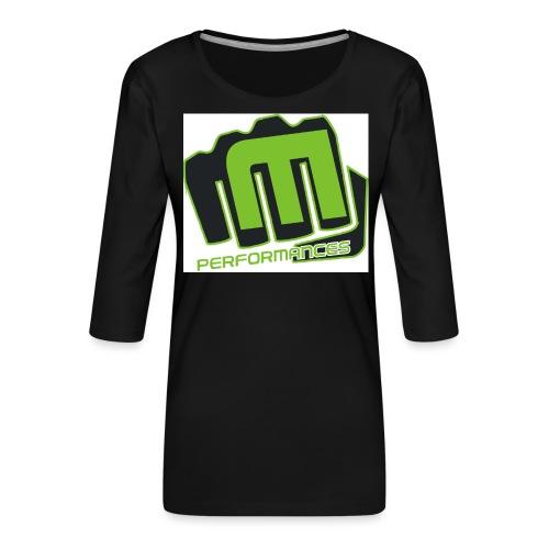 m_performances_jpg - Maglietta da donna premium con manica a 3/4