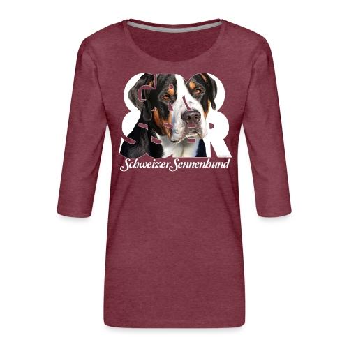 Grosser Schweizer Sennenhund - Naisten premium 3/4-hihainen paita
