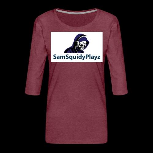 SamSquidyplayz skeleton - Women's Premium 3/4-Sleeve T-Shirt