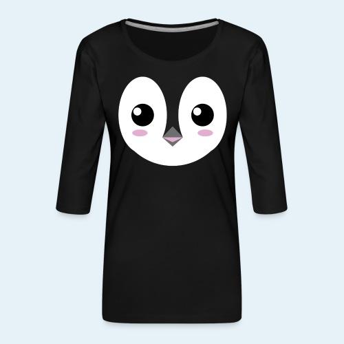 Pingüino bebé (Cachorros) - Camiseta premium de manga 3/4 para mujer