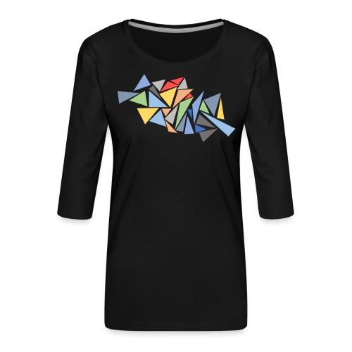 Modern Triangles - Women's Premium 3/4-Sleeve T-Shirt