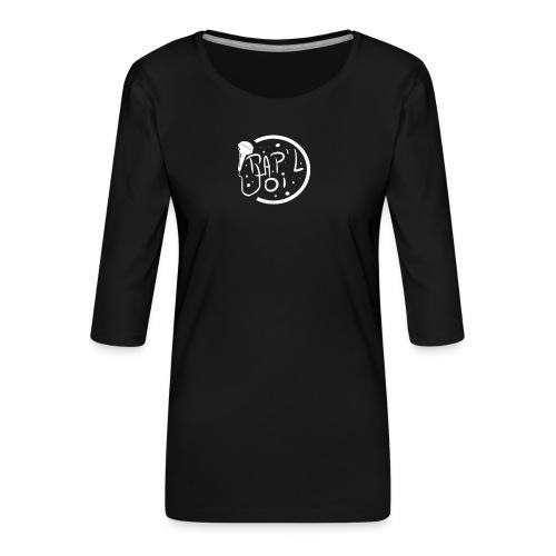 Casquette Logo Rap - T-shirt Premium manches 3/4 Femme