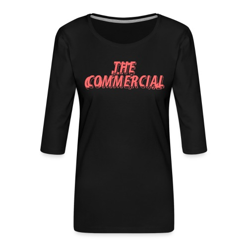 The Commercial Design #1 (Salmon - Women's Premium 3/4-Sleeve T-Shirt