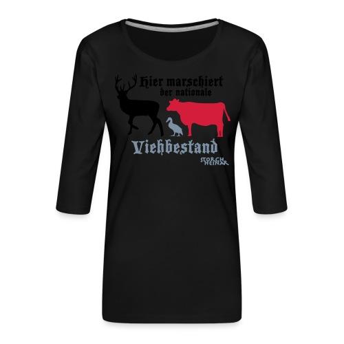 viehbestandnational2 - Frauen Premium 3/4-Arm Shirt