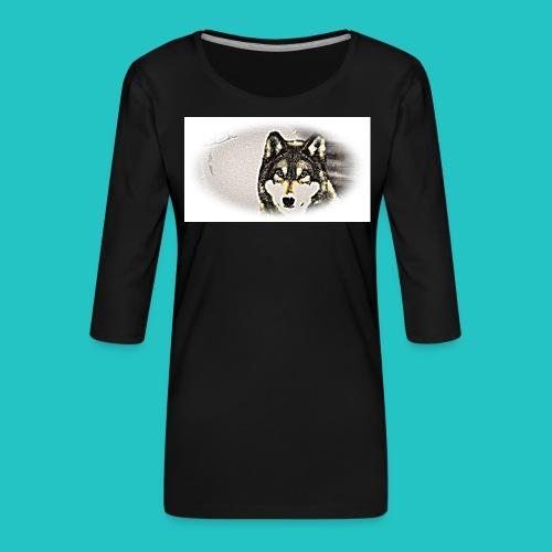 Bluza Wilk - Koszulka damska Premium z rękawem 3/4