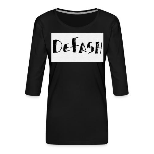 Defash1-png - T-shirt Premium manches 3/4 Femme