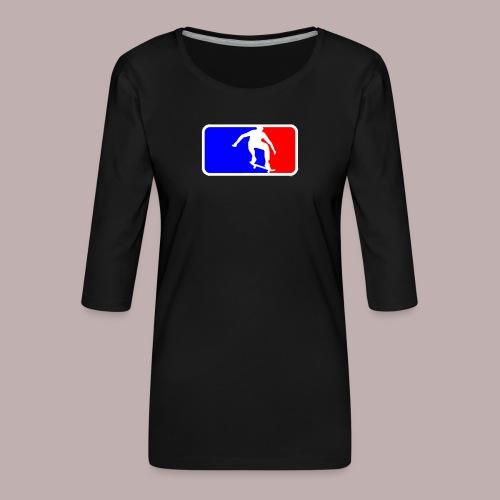 Skate league - Frauen Premium 3/4-Arm Shirt